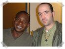 Tim in het gezelschap van Toumani Diabaté